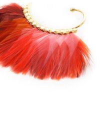 Gas Bijoux - Red Buzios Feather Earrings - Lyst