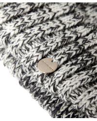 Yves Salomon - Gray Salt And Pepper Fur Bobble Beanie Hat - Lyst