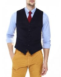 Jules B - Blue Moleskin Waistcoat for Men - Lyst