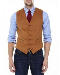 Jules B - Brown Moleskin Waistcoat for Men - Lyst