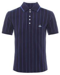Vivienne Westwood | Blue Contrast Stripe Polo Shirt for Men | Lyst