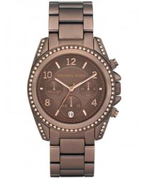 MICHAEL Michael Kors - Brown Antique Effect Diamante Michael Kors Watch Mk5493 for Men - Lyst