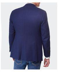 Jules B - Blue Merino Wool Jacket for Men - Lyst