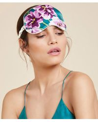 Olivia Von Halle - Multicolor Floral Silk Eye Mask - Lyst