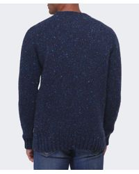Barbour - Blue Netherby Flecked Wool Jumper for Men - Lyst