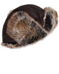 Stetson - Brown Leather Alaska Trapper Hat for Men - Lyst