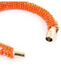 Butterfly - Orange Marrakesh Beaded Bangle - Lyst