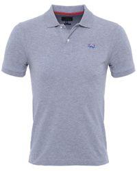 La Martina | Blue Slim Fit Pique Polo Shirt for Men | Lyst