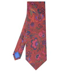 Jules B - Red Floral Silk Tie for Men - Lyst