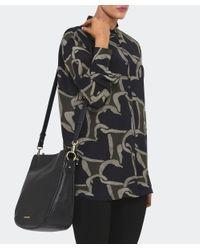 MICHAEL Michael Kors - Black Heidi Leather Medium Shoulder Bag - Lyst
