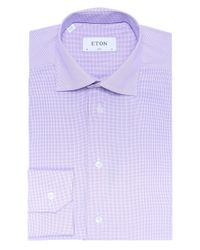 Eton of Sweden | Red Slim Fit Micro Check Shirt for Men | Lyst
