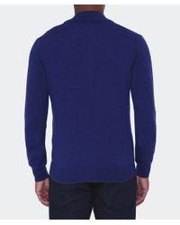 Cerruti 1881 | Blue Half Zip Wool Jumper for Men | Lyst