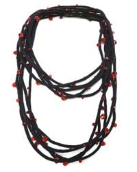 Jianhui | Red Crystal Five Strand Necklace | Lyst