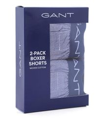 Gant - Blue Two Pack Gingham Boxer Shorts for Men - Lyst