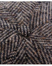 Stetson - Gray Hatteras Herringbone Check Cap for Men - Lyst