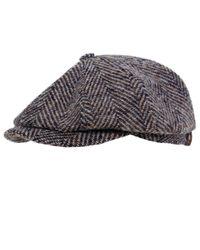 Stetson | Gray Hatteras Herringbone Check Cap for Men | Lyst
