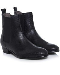 H by Hudson | Black Roux Textured Boots | Lyst