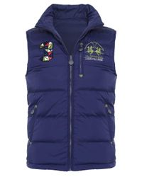 La Martina | Blue Reversible Napier Down Gilet for Men | Lyst