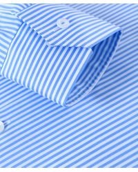 Eton of Sweden | Blue Contemporary Fit Striped Shirt for Men | Lyst