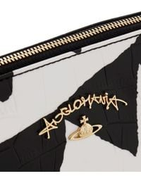 Vivienne Westwood - Black Bristol Triangle Pattern Clutch Bag - Lyst