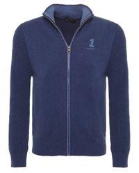 Hackett | Blue Number 1 Full Zip Cardigan for Men | Lyst