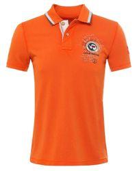 Napapijri | Orange Pique Gandy Polo Shirt for Men | Lyst