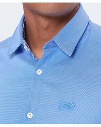 BOSS Green Blue Regular Fit Short Sleeve C-busterino Shirt for men
