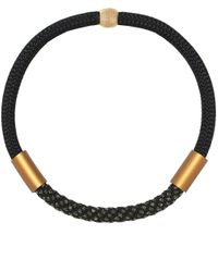 Christina Brampti | Black Single Rope Tube Necklace for Men | Lyst