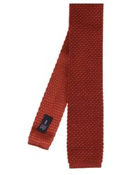 Ascot Accessories - Red Knitted Silk Tie for Men - Lyst