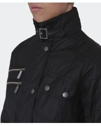 Barbour - Black Fireblade Belted Wax Jacket - Lyst