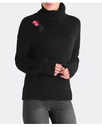 Markus Lupfer - Black Alpaca Embroidered Rose Jumper - Lyst