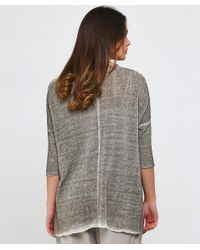 Grizas - Gray Washed Linen Pocket Jumper - Lyst
