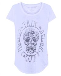 True Religion | White Buddha Deep V Burnout Womens Tee | Lyst