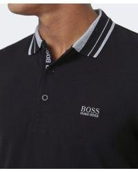 BOSS Green - Black Pleesy Long Sleeved Polo Shirt for Men - Lyst