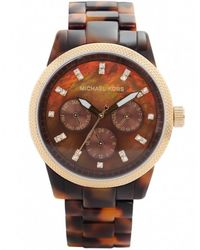 MICHAEL Michael Kors - Brown Tortoiseshell Chronograph Michael Kors Watch Mk5038 for Men - Lyst