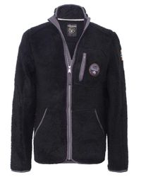Napapijri | Black Yupik Fleece Jacket for Men | Lyst