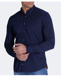 BOSS Orange - Blue Slim Fit Chill Paisley Shirt for Men - Lyst
