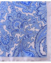 Jules B | Natural Paisley Silk Pocket Square for Men | Lyst