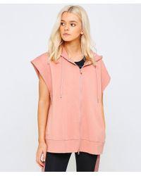 Adidas By Stella McCartney - Pink Yoga Sleeveless Hoodie - Lyst