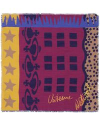 Vivienne Westwood | Purple Abstract Multi Print Scarf | Lyst