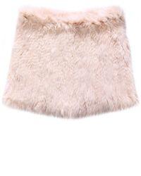 Yves Salomon   Pink Fur Snood   Lyst