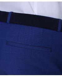 HUGO - Blue Pantaloni In Lana Hets for Men - Lyst