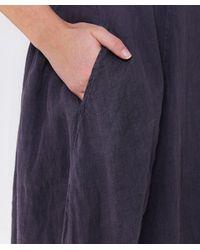 Grizas - Blue Linen High Neck Dress - Lyst