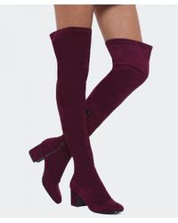 Inuovo - Purple Melinda Thigh High Boots - Lyst