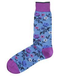 Duchamp - Blue Floral Jardin Vivant Socks for Men - Lyst