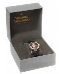 Vivienne Westwood - Black Orb Ii Watch Vv006bkgdn - Lyst