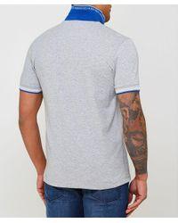 BOSS - Gray Slim Fit Paul Polo Shirt for Men - Lyst