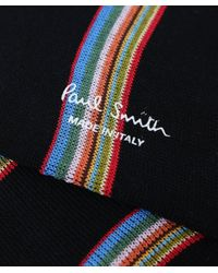 Paul Smith - Black Multi Block Stripe Socks for Men - Lyst