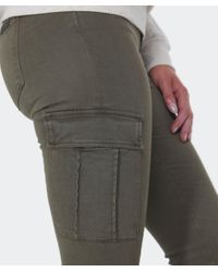 7 For All Mankind - Natural Skinny Cargo Pants - Lyst