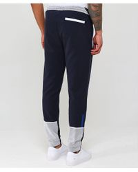 BOSS - Blue Jersey Halko Sweatpants for Men - Lyst